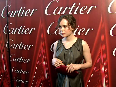ellen page at the 2008 palm springs international film festival hosts star-studded awards gala presented by cartier red carpet arrivals at palm... - cartier stock videos & royalty-free footage