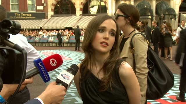 Ellen Page at the Inception World Premiere at London England