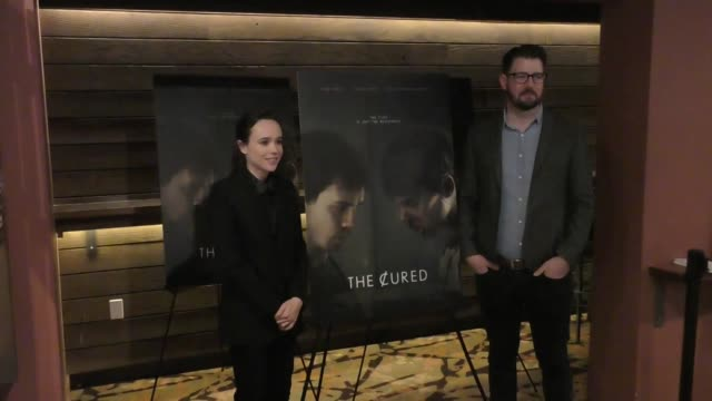 Ellen Page David Freyne attend The Cured premiere at AMC DineIn Sunset 5 Theatre in West Hollywood in Celebrity Sightings in Los Angeles
