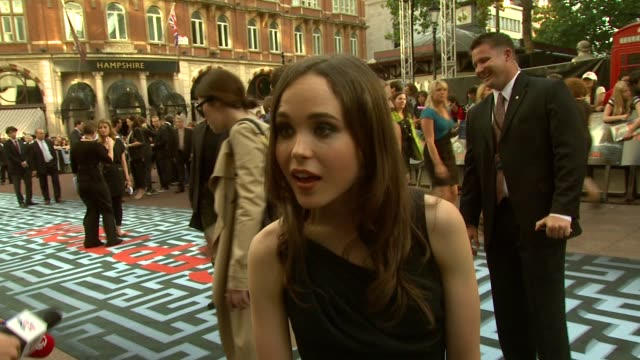 Ellen Page on Christopher Nolan writing the part on her admiration of his work at the Inception World Premiere at London England