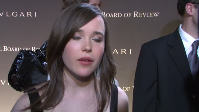 ellen page, wearing dolce and gabbana, on how it feels to be honored for her role in 'juno,' whether or not she ever expected this type of success... - dolce & gabbana stock videos & royalty-free footage