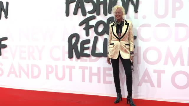 ellen von unwerth at fashion for relief fashion catwalk - the 71st cannes fillm festival at aeroport cannes mandelieu on may 13, 2018 in cannes,... - カンヌ・マンデリュー空港点の映像素材/bロール