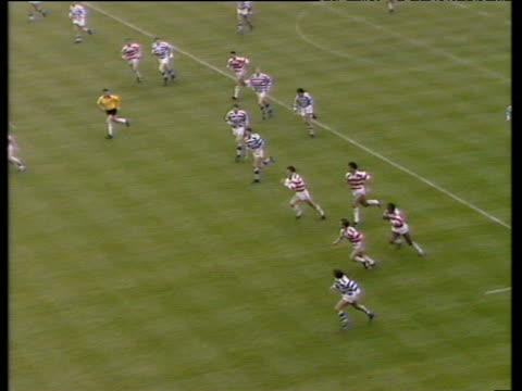 Ellery Hanley scores memorable try Wigan vs Halifax Rugby League Challenge Cup Final 1988 Wembley Stadium