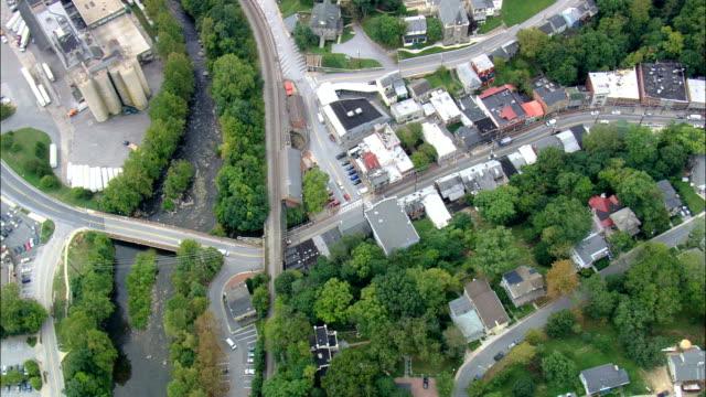 ellicott city och historiska station - flygfoto - maryland, howard county, usa - maryland delstat bildbanksvideor och videomaterial från bakom kulisserna