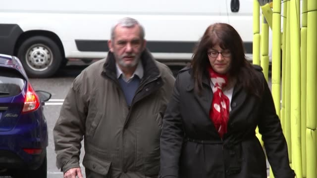 Inquest opens ENGLAND London Croydon EXT Neal Gray grandfather of murder victim Ellie Butler arriving to attend the inquest into her death along with...