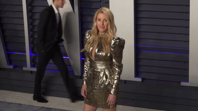 vídeos de stock, filmes e b-roll de ellie goulding at 2019 vanity fair oscar party hosted by radhika jones at wallis annenberg center for the performing arts on february 24 2019 in... - ellie goulding