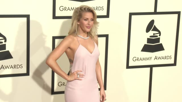 ellie goulding at 58th annual grammy awards® arrivals at staples center on february 15 2016 in los angeles california - grammy awards stock videos and b-roll footage