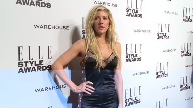 ellie goulding at elle style awards arrivals at one embankment on february 18 2014 in london england - embankment stock videos and b-roll footage