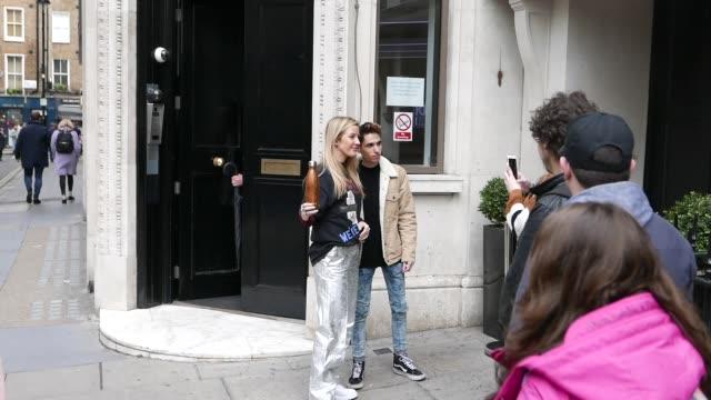 vídeos de stock, filmes e b-roll de ellie goulding at kiss radio studios at celebrity sightings in london on may 09 2019 in london england - ellie goulding