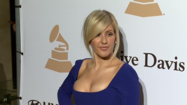 stockvideo's en b-roll-footage met ellie goulding at the 2016 pregrammy gala and salute to industry icons honoring irving azoff at the beverly hilton hotel on february 14 2016 in... - irving azoff