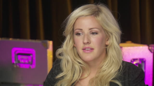 ellie goulding talks about getting people involved in women's equality while backstage at the chime for change event to benefit women's rights around... - human rights or social issues or immigration or employment and labor or protest or riot or lgbtqi rights or women's rights stock videos & royalty-free footage