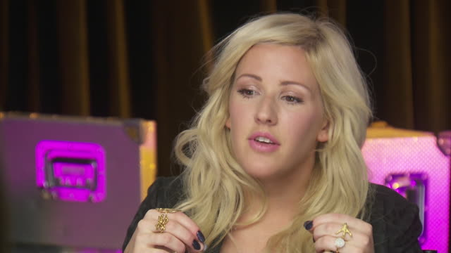 ellie goulding talks about having seen women's inequality firsthand in kenya, while backstage at the chime for change event to benefit women's rights. - savannah guthrie stock videos & royalty-free footage