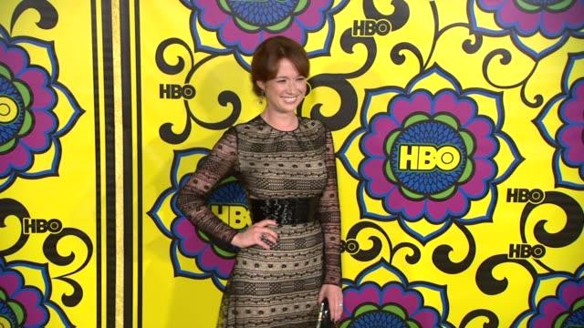 vídeos de stock, filmes e b-roll de ellie kemper at hbo's post 64th primetime emmy awards reception on 9/23/2012 in west hollywood, ca. - ellie kemper
