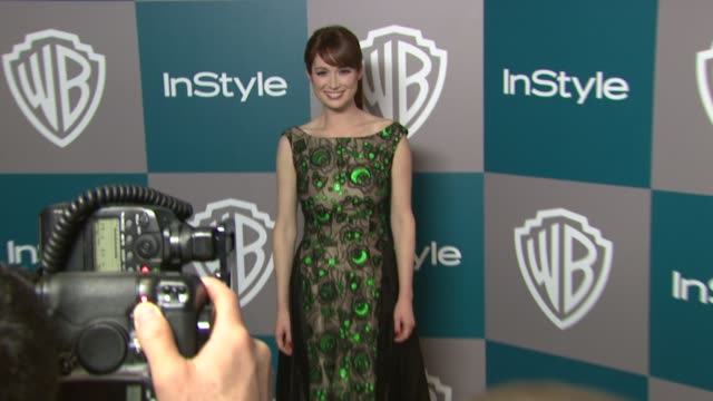 vídeos de stock, filmes e b-roll de ellie kemper at the 13th annual warner bros. and instyle golden globe after-party in beverly hills, ca, on 1/15/12 - ellie kemper
