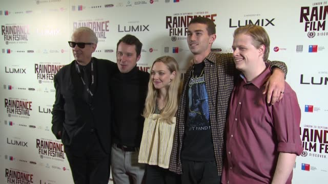 Elliot Grove Eli Powers Amanda Seyfried Aidan Sheldon Thaddeus Bouska at Vue Piccadilly on October 06 2018 in London England