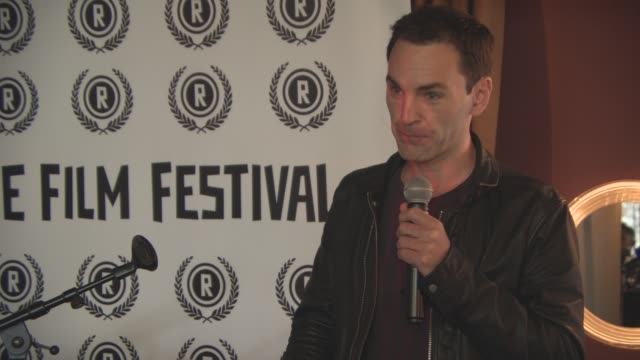Elliot Grove Johnny McDaid announce the 24th Raindance Film Festival Press Launch on August 25 2016 in London England