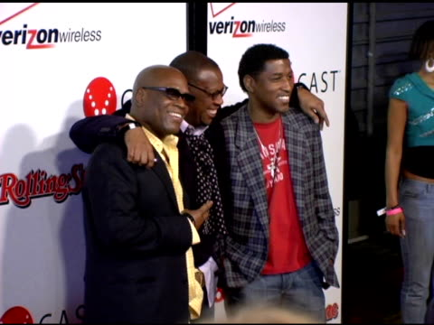 Elliot Reed Andre Harrell and Kenneth 'Babyface' Edmonds at the Rolling Stone/Verizon Wireless PreGrammy Concert with Kanye West at Avalon in...