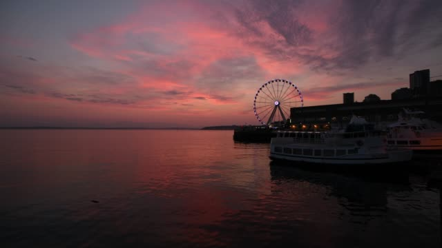 vídeos y material grabado en eventos de stock de elliott bay sunset - bahía de elliott