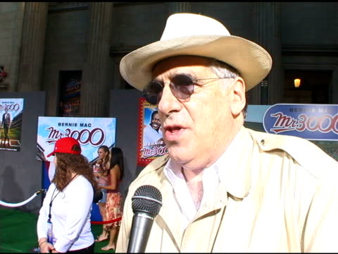 elliott gould on baseball and the dodgers at the 'mr 3000' los angeles premiere arrivals at the el kapitan theater in hollywood california on... - elliott gould stock videos & royalty-free footage