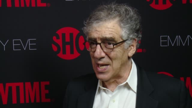 interview elliott gould on why he wanted to celebrate emmy eve with showtime what showtime's 24 nominations say about the network at showtime emmys... - エミー賞点の映像素材/bロール