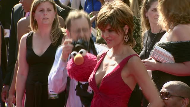 Elmo and Lisa Rinna at the 2007 Daytime Emmy Awards at the Kodak Theatre in Hollywood California on June 15 2007
