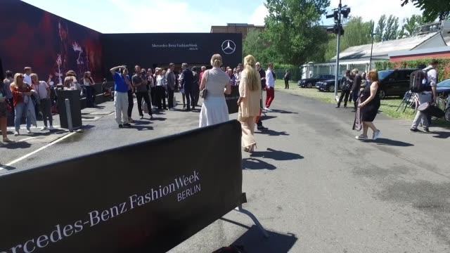 Elna Margret zu Bentheim and Ursula Karven attends the Minx by Eva Lutz show during the MercedesBenz Fashion Week Berlin Spring/Summer 2017 at Erika...