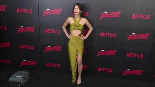 elodie yung at daredevil season 2 premiere at amc loews lincoln square on march 10 2016 in new york city - amc loews stock videos and b-roll footage