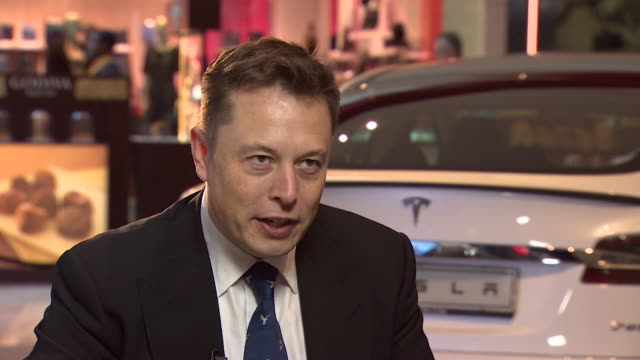 elon musk joking about jeremy clarkson's criticism of tesla's electric cars on top gear - jeremy clarkson stock-videos und b-roll-filmmaterial