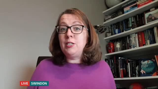 elon musk's space x successfully launches four astronauts to iss from florida england london gir / swindon int libby jackson live 2way interview via... - itv lunchtime news stock videos & royalty-free footage