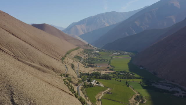 elqui valley drone - valley stock videos & royalty-free footage