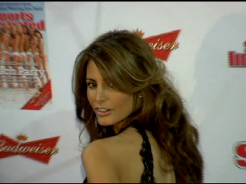 elsa benitez at the 2006 sports illustrated swimsuit issue photocall at crobar in new york new york on february 14 2006 - sports illustrated swimsuit issue stock videos & royalty-free footage