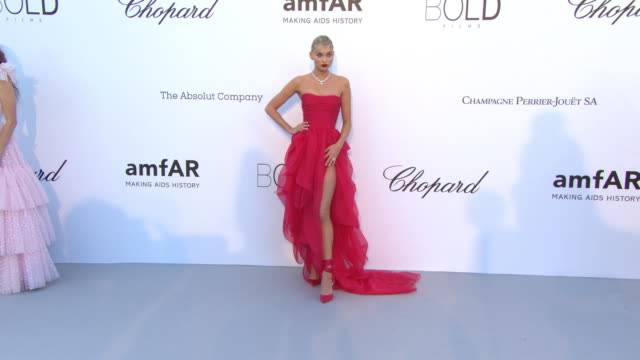 Elsa Hosk at amfAR Gala Cannes 2018 on May 17 2018 in Cap d'Antibes France