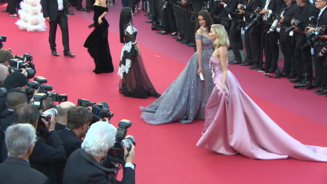 elsa hosk at 'girls of the sun' red carpet arrivals the 71st cannes film festival at grand theatre lumiere on may 12 2018 in cannes france - レッドカーペット点の映像素材/bロール