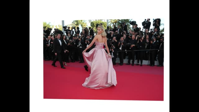 Elsa Hosk poses for photographers at the 'Girls In The Sun' red carpet during the 71st Cannes Film Festival on May 12 2018 in Cannes France