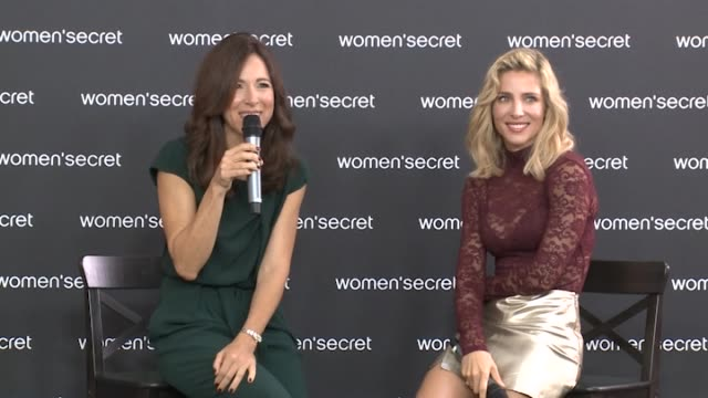 vídeos de stock e filmes b-roll de elsa pataki attends the new women's secret campaign photocall in madrid on september 20 2017 - celebridade