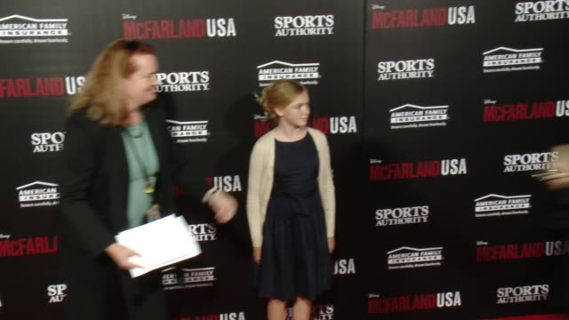 "elsie fisher at the ""mcfarland, usa"" los angeles premiere at the el capitan theatre on february 09, 2015 in hollywood, california. - el capitan theatre stock videos & royalty-free footage"