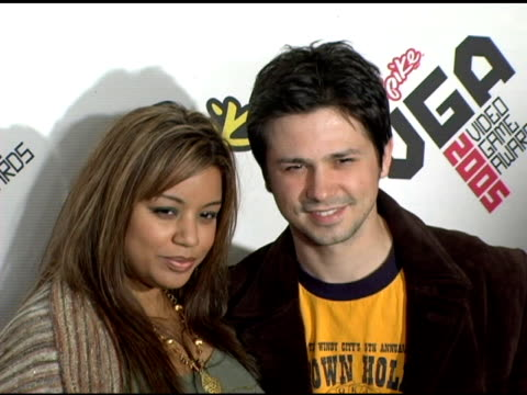 Elsie Rodriguez and Freddy Rodriguez at the Spike TV Video Game Awards at the Gibson Amphitheatre in Los Angeles California on November 18 2005