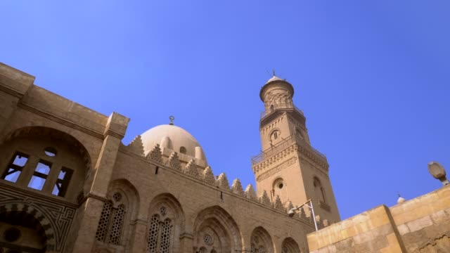 el-sultan qalawun mosque in old cairo, egypt. - minaret stock videos & royalty-free footage