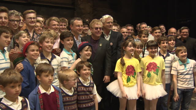 BROLL Elton John and cast at Billy at Elliot The Musical Celebrates 10 Years in the West end