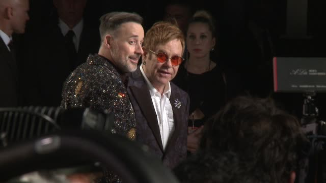 elton john and david furnish at 2017 vanity fair oscar party hosted by graydon carter on february 26, 2017 in beverly hills, california. - oscar party stock videos & royalty-free footage