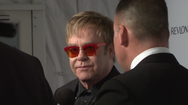 Elton John and David Furnish at Elton John AIDS Foundation's 12th Annual An Enduring Vision Benefit on in New York NY