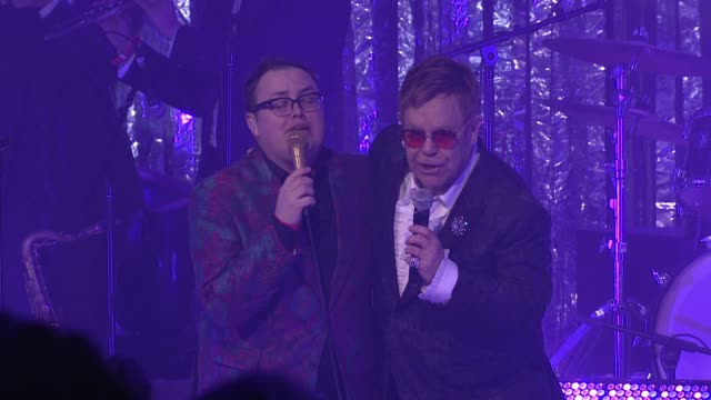 performance elton john and david furnish at the elton john aids foundation presents the 25th annual academy awards viewing party on february 26 2017... - elton john stock videos & royalty-free footage