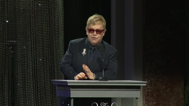 SPEECH Elton John and David Furnish present tonight's award to David Beckham at Sixth Biennial UNICEF Ball Honoring David Beckham And CL Max Mikias...