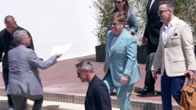 elton john at celebrity sightings in cannes on may 16 2019 in cannes france - elton john stock videos & royalty-free footage