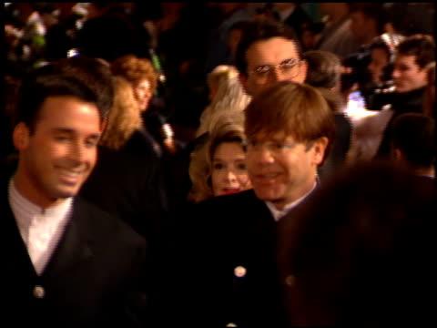 elton john at the 1995 golden globe awards at the beverly hilton in beverly hills california on january 21 1995 - elton john stock videos & royalty-free footage