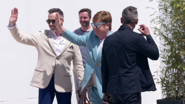 Elton John at The 72nd Cannes Film Festival on May 14 2019 in Cannes France