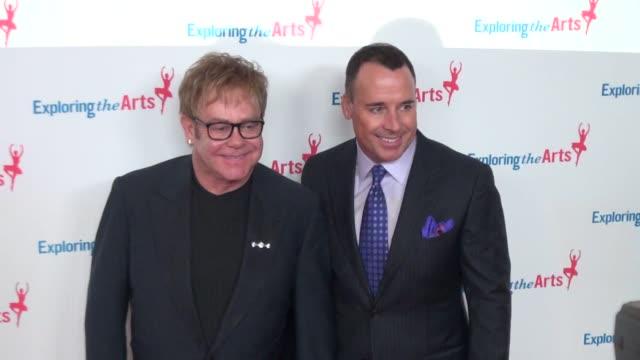 Elton John civil partner David Furnish at Tony Bennett's 85th birthday celebration 09/18/11