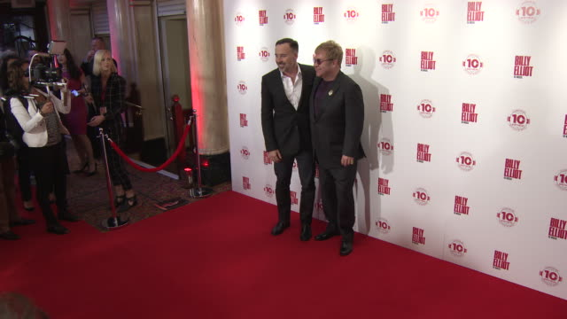 BROLL Elton John Stephen Daldry and David Furnish at Billy Elliot The Musical Celebrates 10 Years in the West end