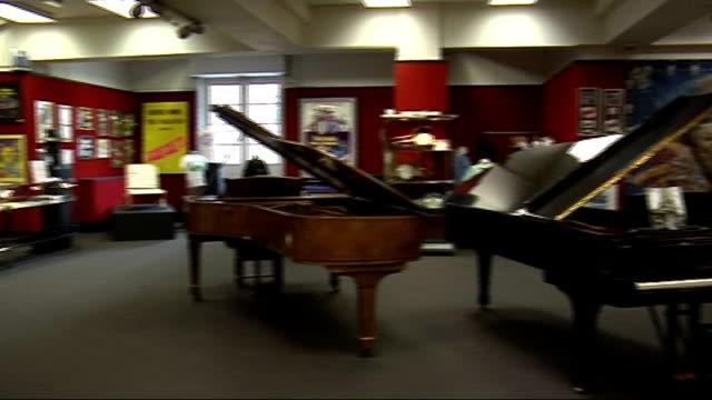 elton john's grand piano to be auctioned england london knightsbridge bonhams auctioneers int exhibition of music memorabilia on display in auction... - ringo starr bildbanksvideor och videomaterial från bakom kulisserna