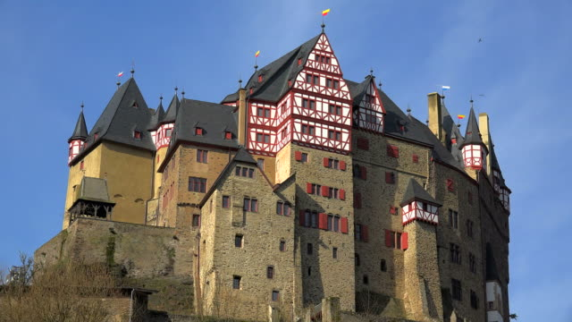 eltz castle, eifel, moselle valley, rhineland-palatinate, germany - maroon stock videos and b-roll footage